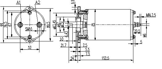 Электродвигатель AME1117 (MM 100, 11.216.685, IMM306685) - схема