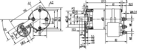 Электродвигатель AME1759 (MM 337, 11.216.432, IMM306432) - схема