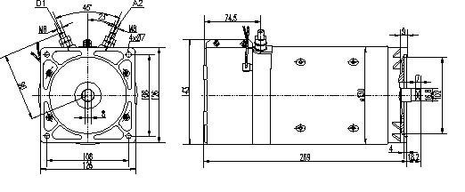 Электродвигатель AMK4690 (MM 7, 11.216.879, IMM306879) - схема
