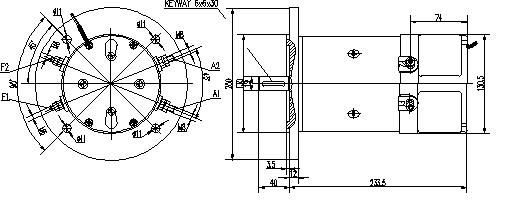 Электродвигатель AMK2632 (MM 17, 11.216.769, IMM306769) - схема