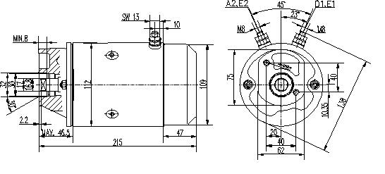 Электродвигатель AMJ5878 (MM 336, 11.216.961, IMM306961) - схема