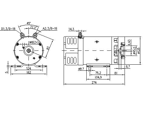 Электродвигатель AMK4671 (MM 389, 11.216.992, IMM306992) - схема