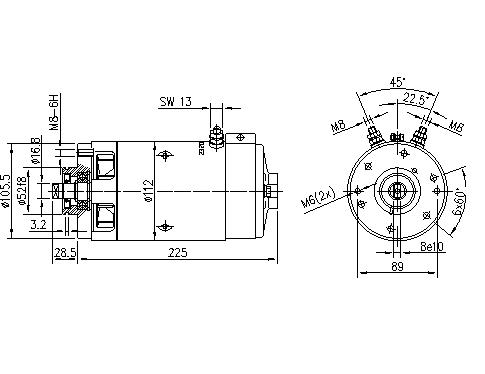 Электродвигатель AMJ5888 (MM 3, 11.218.004, IMM308004) - схема