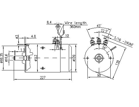 Электродвигатель AMJ4688 (MM 5, 11.212.744, IMM302744) - схема