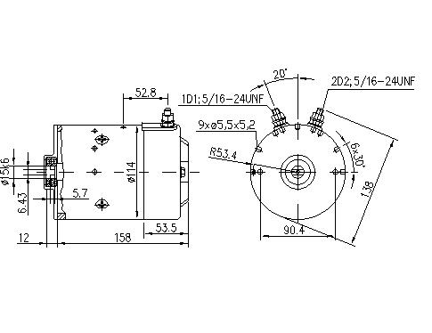 Электродвигатель AMJ4827 (11.218.014, IMM308014) - схема