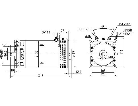 Электродвигатель AMK5569 (IM0407) - схема