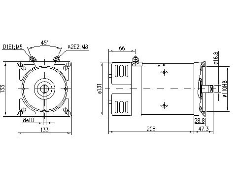 Электродвигатель AMK5582 (MM 55, 11.218.044, IMM308044) - схема