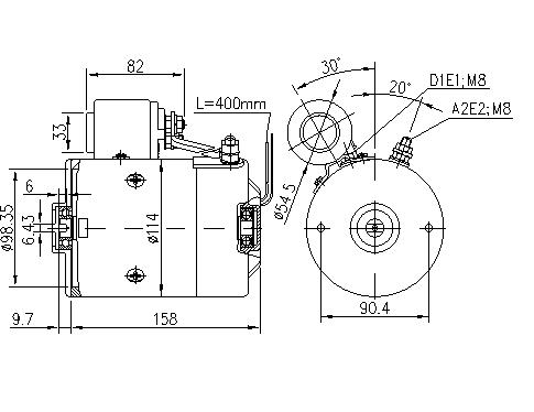 Электродвигатель AMJ5881 (MM 119, 11.216.986, IMM306986) - схема