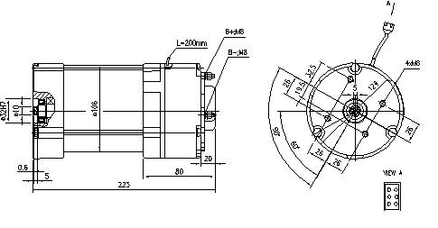 Электродвигатель AMG6368 (MM 319, 11.213.225, IMM303225) - схема