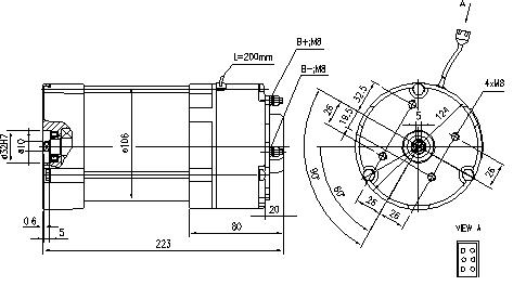Электродвигатель AMG6316 (MM 318, 11.213.226, IMM303226) - схема