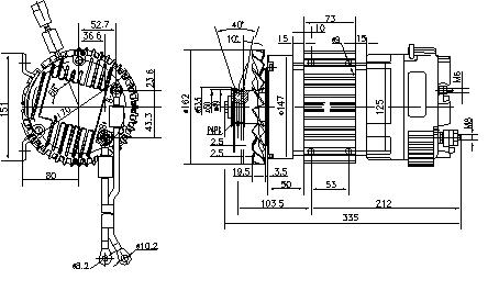 Электродвигатель AMK6120 (MM 356, 11.213.203, IMM303203) - схема