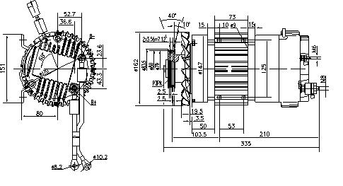 Электродвигатель AMK6105 (11.213.042, IMM303042) - схема