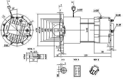 Электродвигатель AMG6370 (MM 316, 11.213.228, IMM303228) - схема