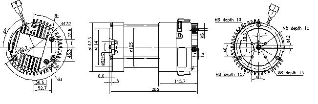 Электродвигатель AMK6335 (MM 246, 11.213.229, IMM303229) - схема