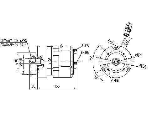 Электродвигатель AMG6334 (MM 314, 11.213.098, IMM303098) - схема