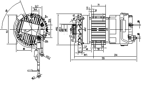 Электродвигатель AMK6109 (MM 346, 11.213.106, IMM303106) - схема