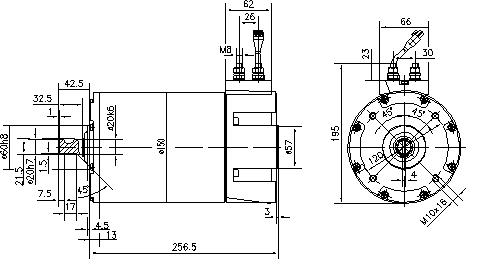 Электродвигатель AML6208 (MM 250, 11.213.118, IMM303118) - схема