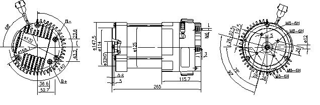 Электродвигатель AMK6336 (MM 247, 11.213.230, IMM303230) - схема