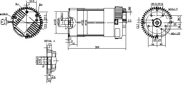 Электродвигатель AML6308 (MM 248, 11.213.234, IMM303234) - схема