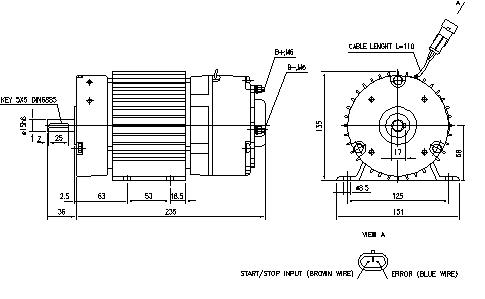 Электродвигатель AMG6123 (MM 249, 11.213.181, IMM303181) - схема