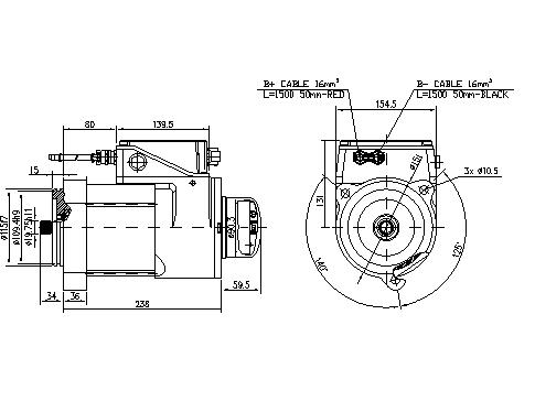 Электродвигатель AMK6341 (11.213.266, IMM303266) - схема