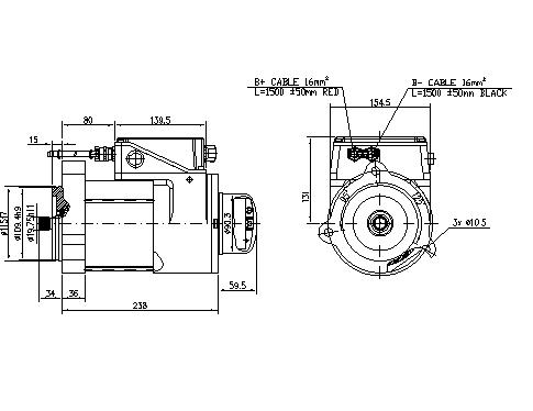 Электродвигатель AMK6345 (11.213.270, IMM303270) - схема