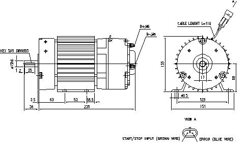 Электродвигатель AMG6361 (MM 16, 11.213.194, IMM303194) - схема