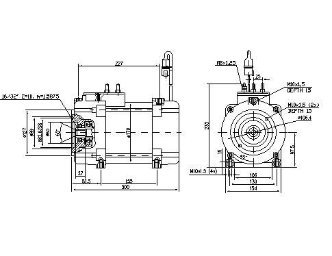 Электродвигатель AMT7210 (MM 391, 11.217.139, IMM307139) - схема