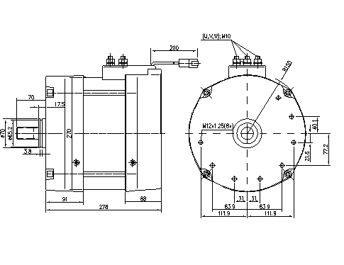 Электродвигатель AMZ7114 (11.217.155, IMM307155) - схема