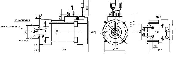 Электродвигатель AML7107 (MM 103, 11.217.038, IMM307038) - схема