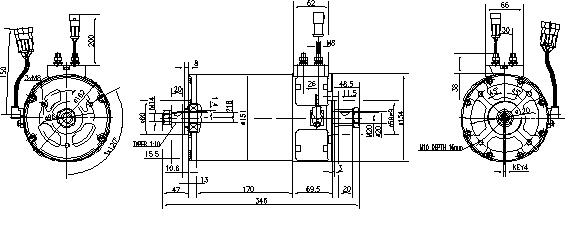 Электродвигатель AML7114 (MM 343, 11.217.090, IMM307090) - схема