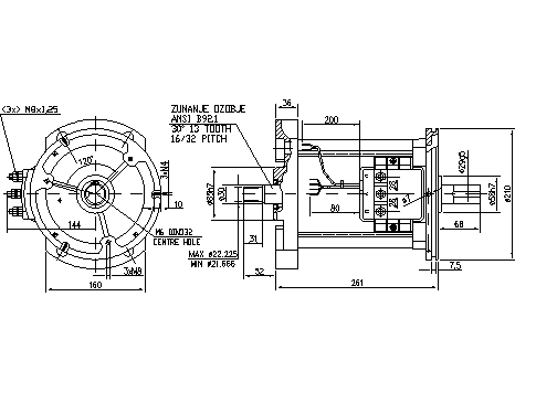 Электродвигатель AMT7107 (11.217.072, IMM307072) - схема