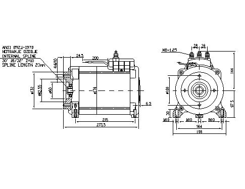 Электродвигатель AMT7207 (11.217.073, IMM307073) - схема