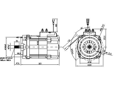 Электродвигатель AMT7209 (MM 2, 11.217.110, IMM307110) - схема