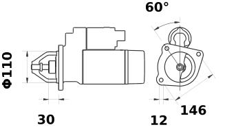 Стартер AZJ3538 (IS0203) - схема