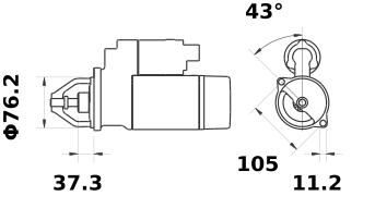 Стартер AZE2502 (IS0417) - схема