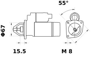 Стартер AZE1211 (IS0519) - схема