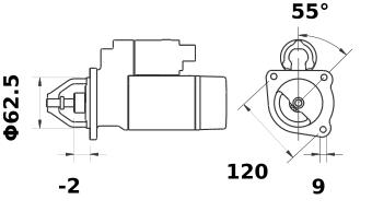 Стартер AZE1212 (IS0529) - схема