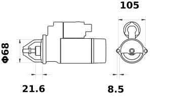 Стартер AZE1213 (IS0580) - схема