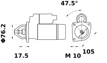 Стартер AZE2523 (IS0647) - схема