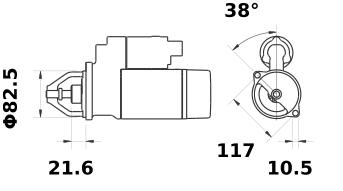 Стартер AZE2525 (IS0651) - схема
