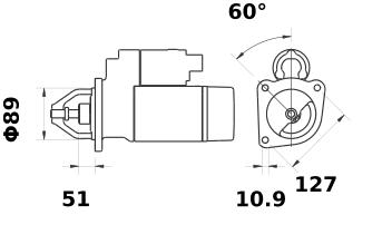 Стартер AZJ3297 (IS0663) - схема