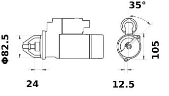 Стартер AZJ3246 (IS0709) - схема