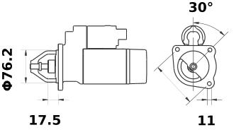 Стартер AZE2535 (IS0717) - схема