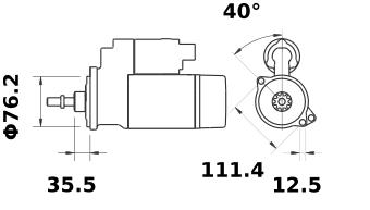 Стартер AZE2538 (IS0724) - схема
