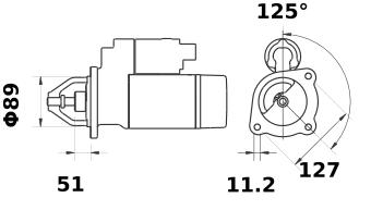 Стартер AZF4507 (IS0728) - схема