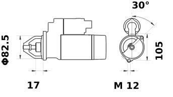 Стартер AZE2578 (IS0773) - схема