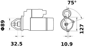 Стартер AZJ3324 (IS0795) - схема