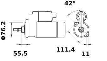 Стартер AZE2558 (IS0845) - схема
