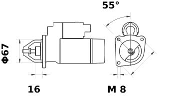 Стартер AZE1535 (IS0907) - схема